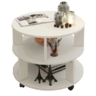 Vogue Round Coffee Table (White)