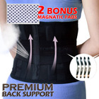 Premium Steel Reinforced Back & Lumbar Support Magnetic Brace