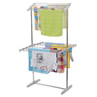 2-Tier Stainless Steel Clothes Airer Organizer Hanger Rack Towel Dryer
