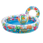 Intex Swimming Pool + Beach Ball + Swim Ring Play Set