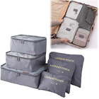 5 PCS Bags In Bag Foldable Travel Organizer Set (Grey)