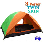 3 Person Tent Waterproof UV Resistant Twin Skin