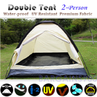 2 Person Tent Waterproof UV Resistant (Sand)