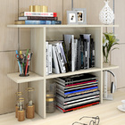 Uptown Desk Hutch Storage Shelf Unit Organizer (White Oak)