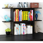 Uptown Desk Hutch Storage Shelf Unit Organizer (Black Wood)