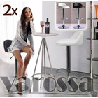 2 x Varossa's Home Swivel Adjustable Bar Stools -Set of 2