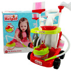 Little Helper Kids Cleaning Vacuum Trolley Play Set