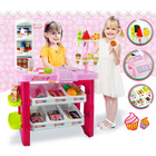Deluxe Supermarket Dessert Shop Toy Set with Electronic Scanner