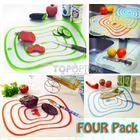 4 PC Set Colour Coded Chopping Cutting Boards