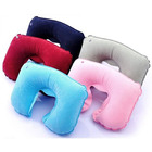 Inflatable Travel Neck U Shape Pillow Support Head Rest Air blow up Cushion