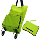 Deluxe Foldable Trolley Bag Travel Shopping Folding Luggage Suitcase Fits in Handbag