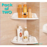 2 x Triangle Bathroom Storage Corner Shelf Bath Rack Organizer