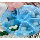 Blue 7 Day Pill Organizer Storage Box