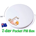 2 x Pill Boxes 7 Day Medication Organizer Tablet Storage Box (2 PK)