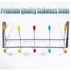 Colourful 10 Hook Large Stainless Steel Over Door Hooks Hanger