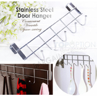 Straight Large 5 Hook Over Door Hanger Hanging Rack