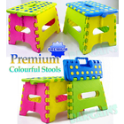 2 x Quality Colourful Kids Foldable Folding Step Stool