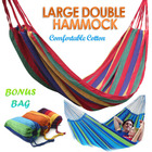 DOUBLE Large Cotton Hammock with Bag