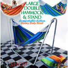 DOUBLE Large Hammock with Steel Stand