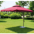 Varossa Large Square Cantilever Outdoor Umbrella Maroon