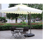 Varossa Large Square Cantilever Outdoor Umbrella White / Cream
