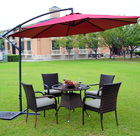 3m Steel Round Cantilever Outdoor Umbrella (Maroon)