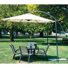 3m Steel Round Cantilever Outdoor Umbrella (White/Cream)