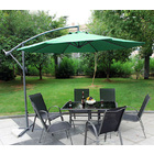 3m Steel Round Cantilever Outdoor Umbrella (Green)
