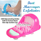 Easy Exfoliate Foot Cleaner, Massages & Exfoliates Feet In Shower Spa PINK