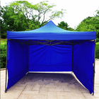 Varossa 3m x 3m Outdoor Pop Up Gazebo Marquee Tent with 3 Side Walls (BLUE)