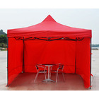 Varossa 3m x 3m Outdoor Pop Up Gazebo Marquee Tent with 3 Side Walls (RED)