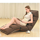 Varossa Chaise Lounge Recliner Chair Sofa Bed (CHOCOLATE)