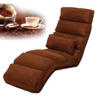 Varossa Chaise Lounge Recliner Chair Sofa Bed (MOCHA)
