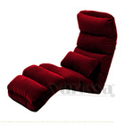 Varossa Chaise Lounge Recliner Chair Sofa Bed (MAROON)