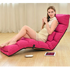 Varossa Chaise Lounge Recliner Chair Sofa Bed (PINK)