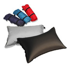 2 x Premium Padded Inflatable Travel Pillow with Bags