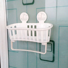 Bathroom Shower Basket Organizer with Towel Rack