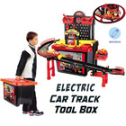 Automatic Electric Car Ramp Multi-Level Garage Tool Box Kids Toy Set
