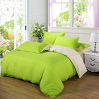 Luxe Home 4 Piece Quilt Cover Bedding Set (Fresh Green & Cream)