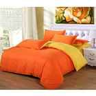 Luxe Home 4 Piece Quilt Cover Bedding Set (Hot Orange & Yellow)