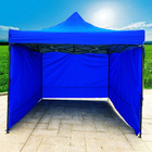 Varossa Heavy Duty 3m x 3m Pop Up Gazebo Marquee Tent with 3 Side Walls (Blue)
