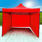 Varossa Heavy Duty 3m x 3m Pop Up Gazebo Marquee Tent with 3 Side Walls (Red)