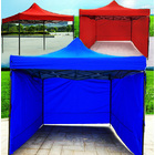 Varossa Heavy Duty 3m x 3m Pop Up Gazebo Marquee Tent with 3 Side Walls