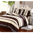 Luxe Home 4 Piece Quilt Cover Bedding Set (Stripes)