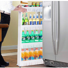 Smart Space 4 Level Side Bottle Storage Shelf with Wheels