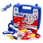 Children's Doctor Play Toy 15PC Kit (Blue & Red Set)