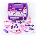 Children's Doctor Play Toy 15PC Kit (Pink & Purple Set)