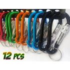 12PK Large Screw Lock Carabiner Clips with Key Holder