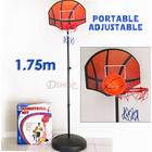 Portable Adjustable Junior Basketball Hoop Set 1.75m