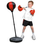 Kids Speed Ball Stand Punching Boxing Bag Glove Set